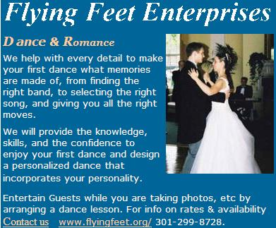FLYING FEET WEDDING  AD